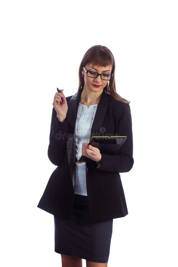 Femme d'affaires avec la tablette image libre de droits