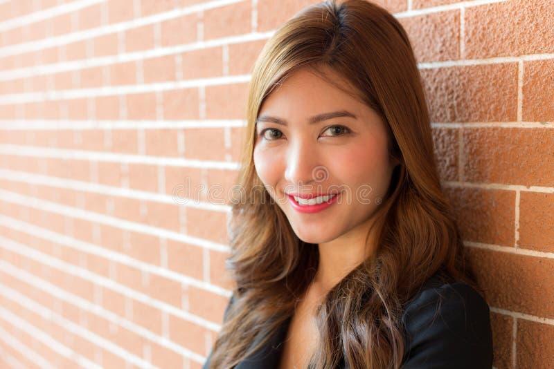 Femme d'affaires avec le visage de sourire images libres de droits