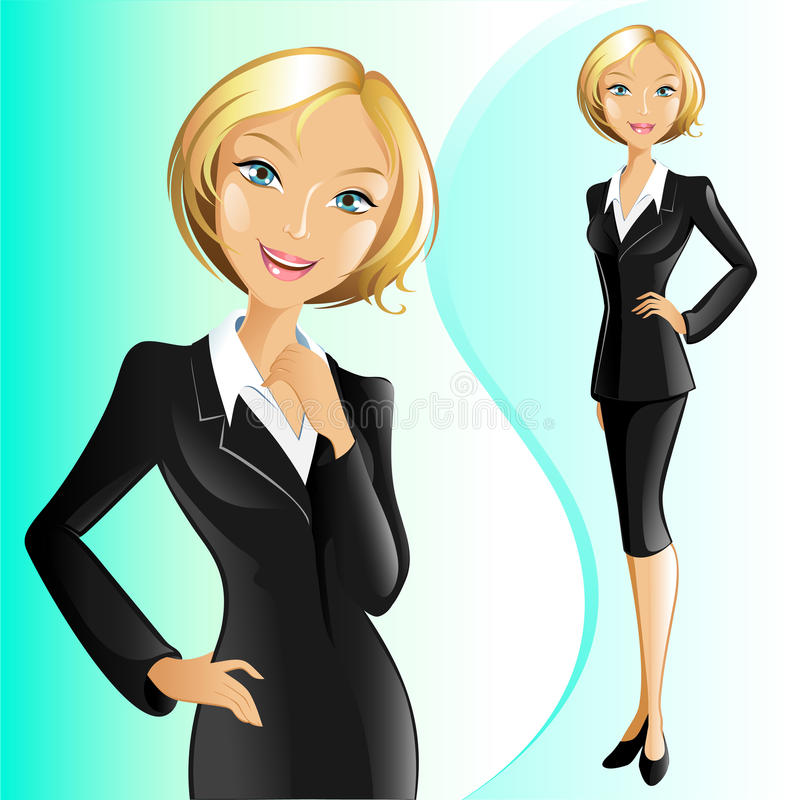 Femme d'affaires (blonde) illustration libre de droits