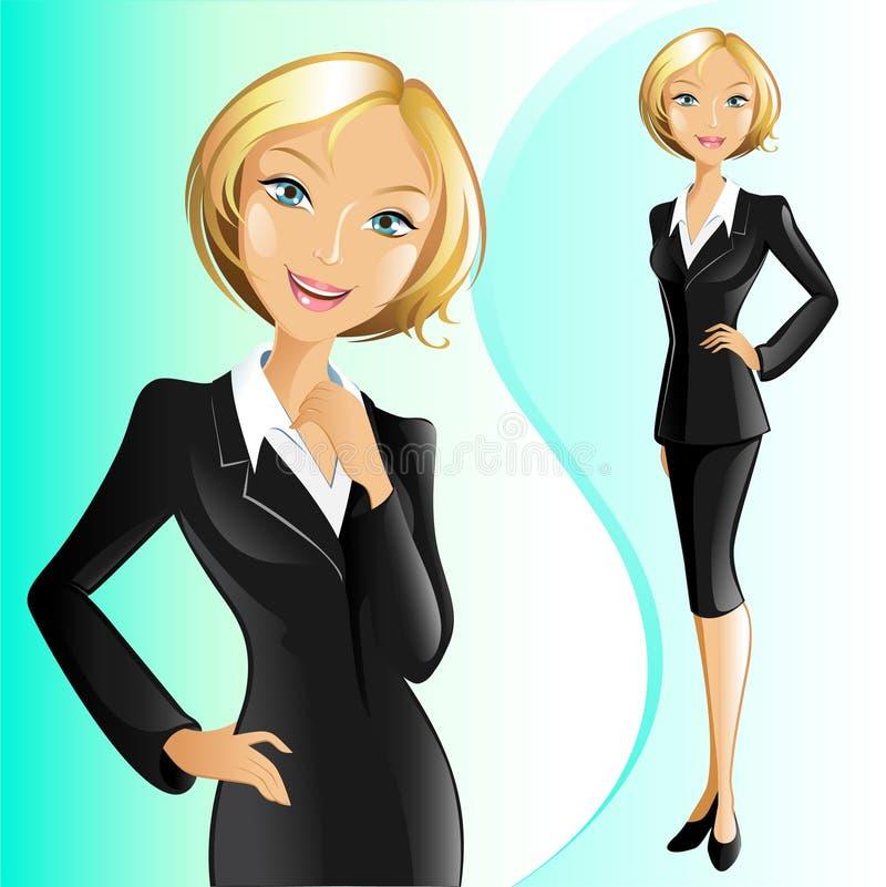 Femme d'affaires (blonde) illustration libre de droits