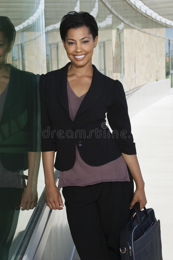 Femme d'affaires With Briefcase photo stock