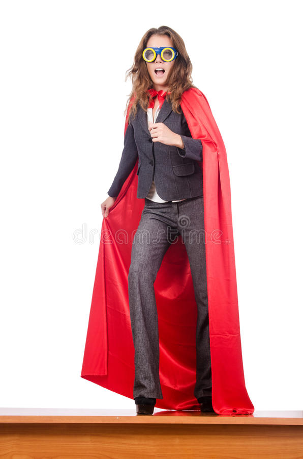 Femme d'affaires - concept de superwoman image stock