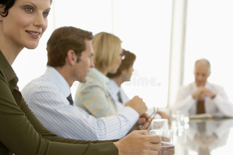 Femme d'affaires In Conference Room image libre de droits