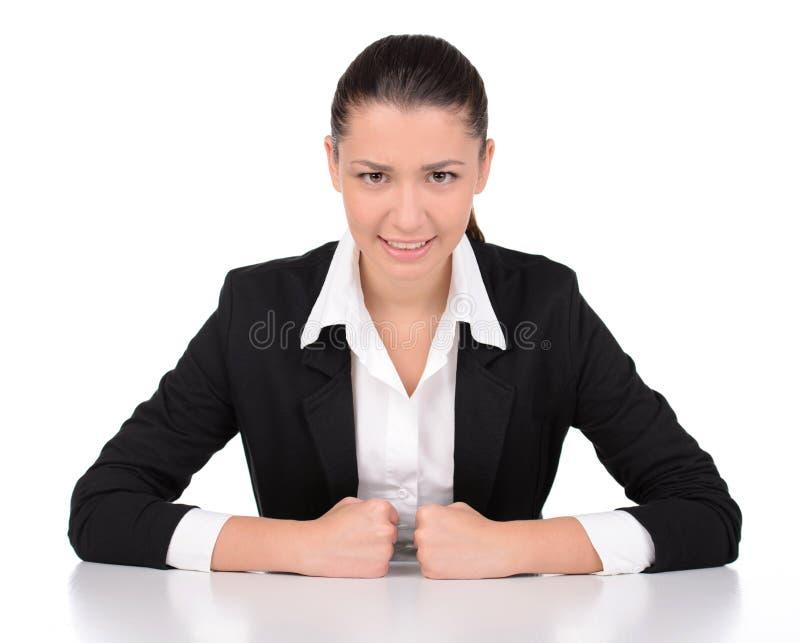Femme d'affaires d'émotions photos stock