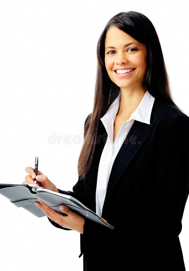 Femme d'affaires d'agenda photos libres de droits