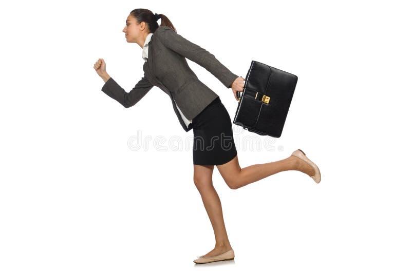 Femme d'affaires d'isolement photo stock