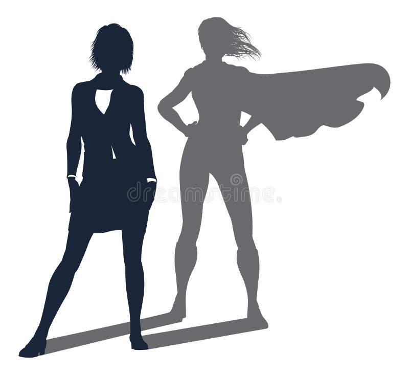 Femme d'affaires d'ombre de super héros illustration de vecteur