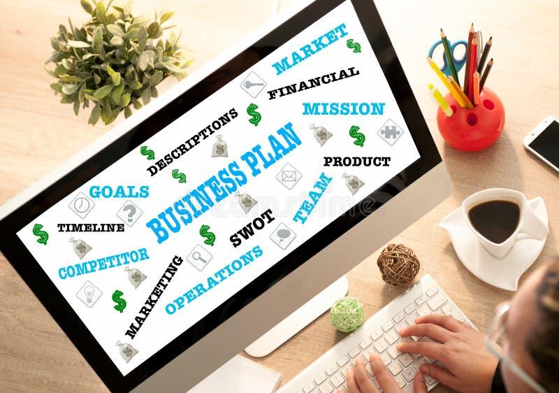 Femme d'affaires dans la stratégie de planification de bureau, concept d'affaires photographie stock