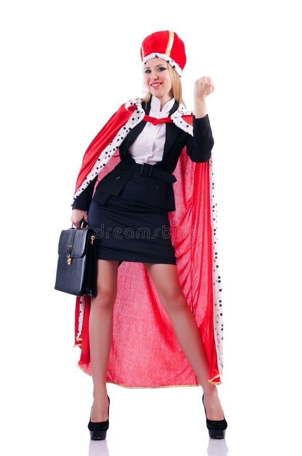 Femme D Affaires Dans Le Procès Royal Photo libre de droits