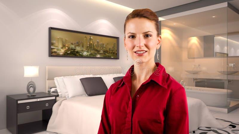 Femme d'affaires dans un hôtel image libre de droits