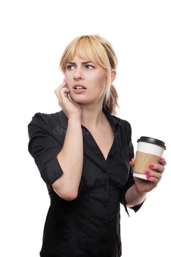 Femme d'affaires dans une crise photo stock