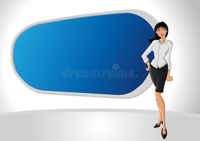 Femme d'affaires de dessin animé illustration de vecteur