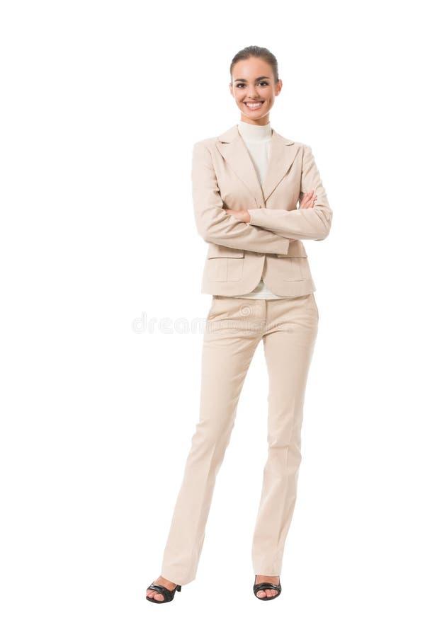 femme d'affaires de Plein-fuselage image libre de droits