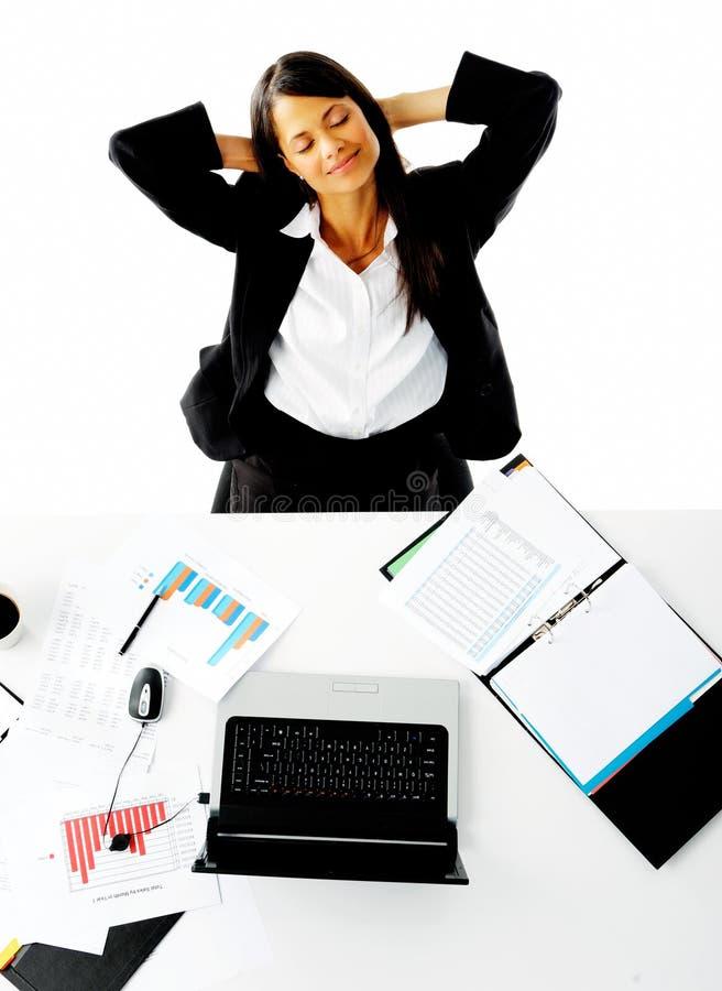 Femme d'affaires de rêverie photos libres de droits