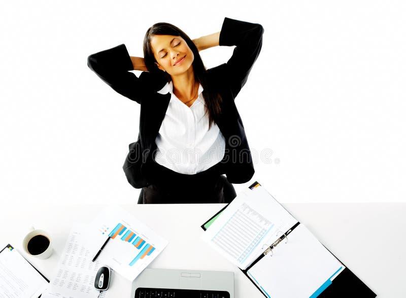 Femme d'affaires de rêverie image libre de droits