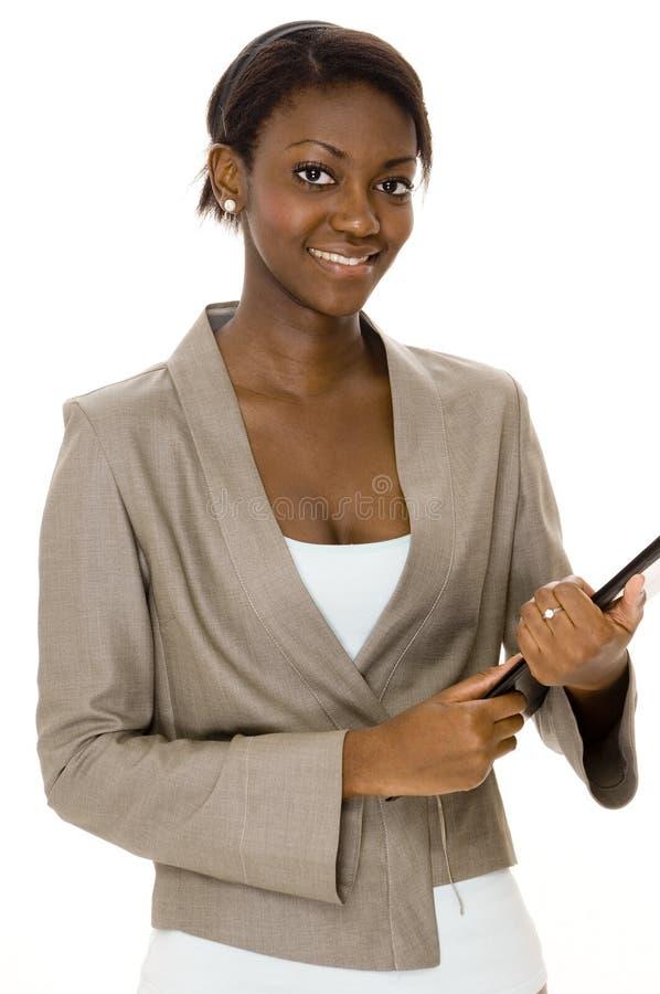 Femme d'affaires de sourire photographie stock libre de droits