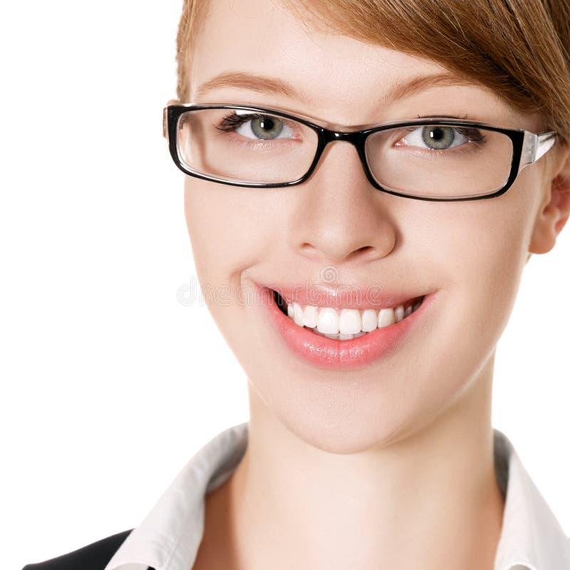 Femme d'affaires de sourire heureuse images libres de droits