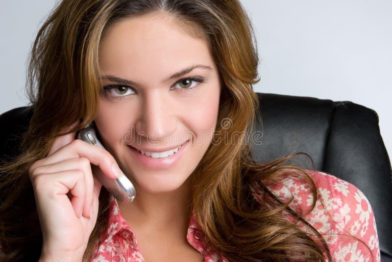 Femme d'affaires de téléphone image libre de droits