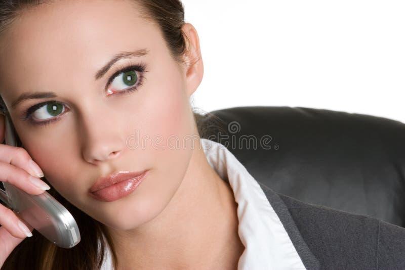 Femme d'affaires de téléphone photo libre de droits