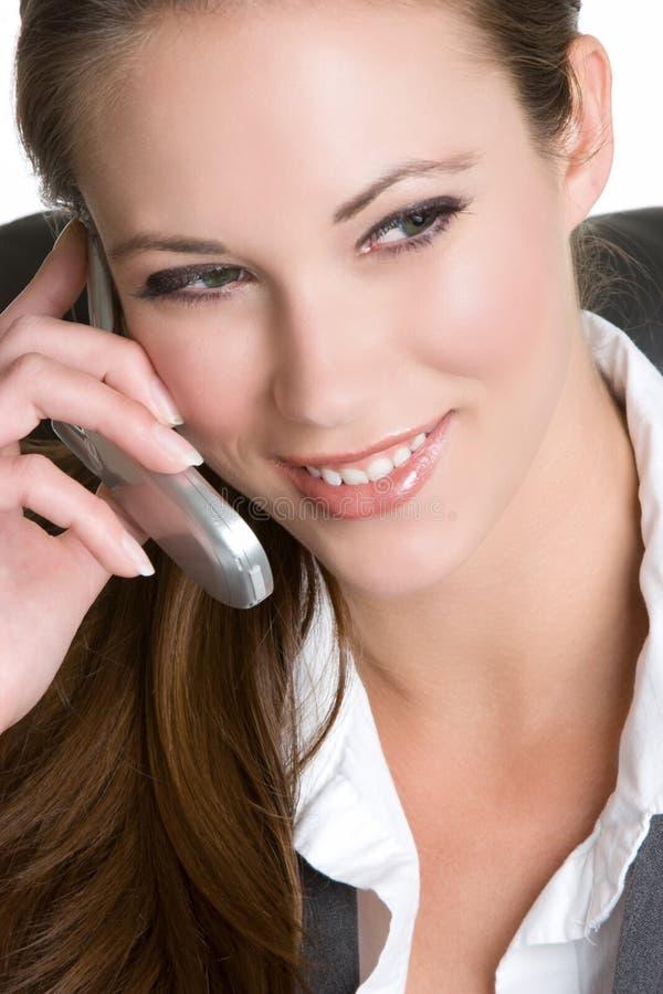 Femme d'affaires de téléphone portable image stock