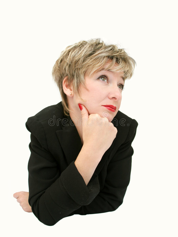 Femme d'affaires drôle 4 photos libres de droits