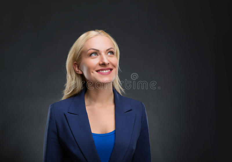 Femme d'affaires Dreaming images stock
