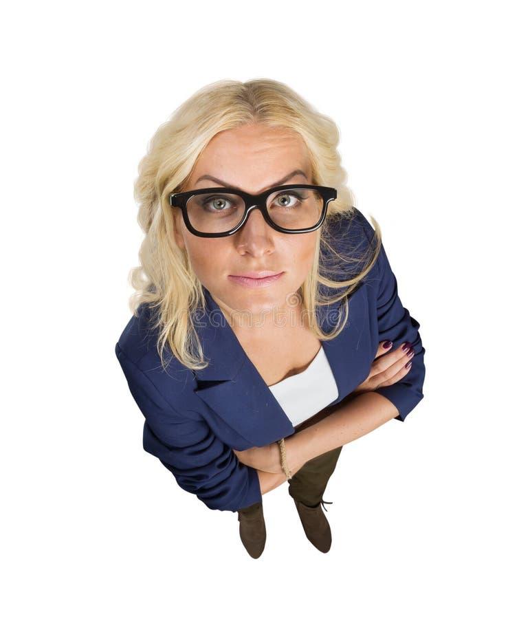Femme d'affaires en verres photo stock