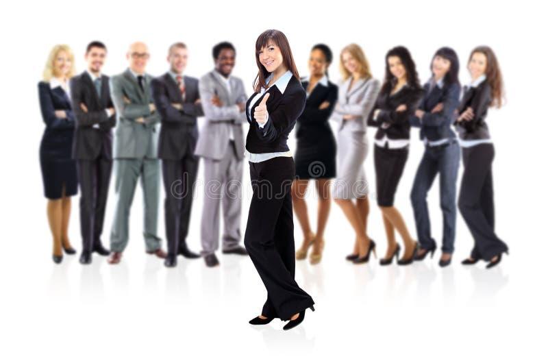 Femme d'affaires et équipe d'affaires image stock