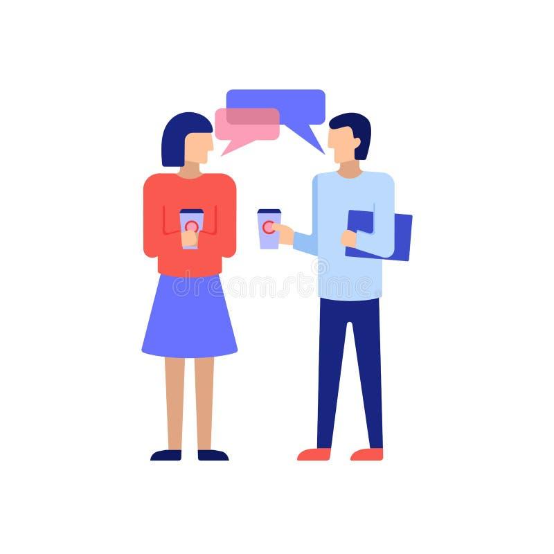 Femme d'affaires et café potable d'homme d'affaires illustration libre de droits