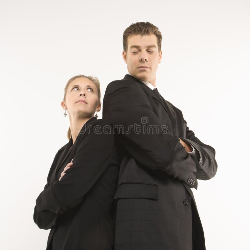 Femme d'affaires et homme photos libres de droits