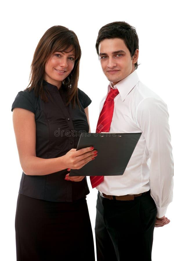 Femme d'affaires et homme d'affaires photo libre de droits