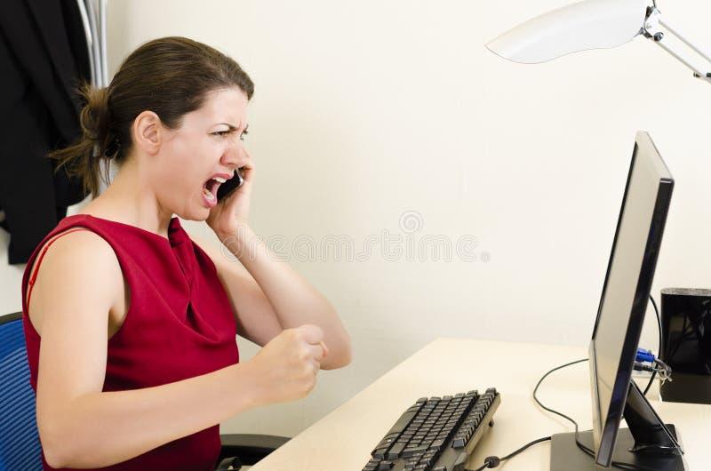 Femme d'affaires fâchée photos libres de droits