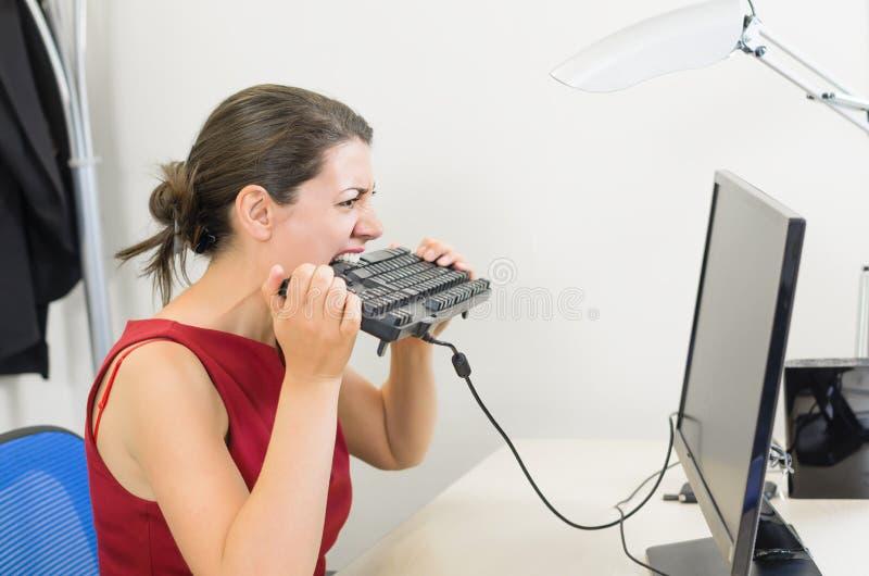 Femme d'affaires fâchée photos stock