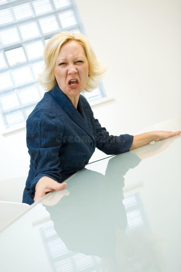 femme d'affaires fâchée photographie stock libre de droits
