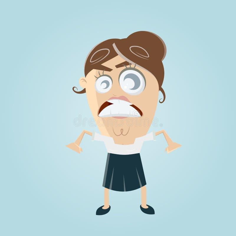 femme d'affaires fâchée illustration de vecteur