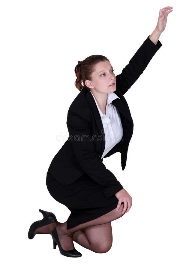 Femme d'affaires fatiguée photographie stock libre de droits