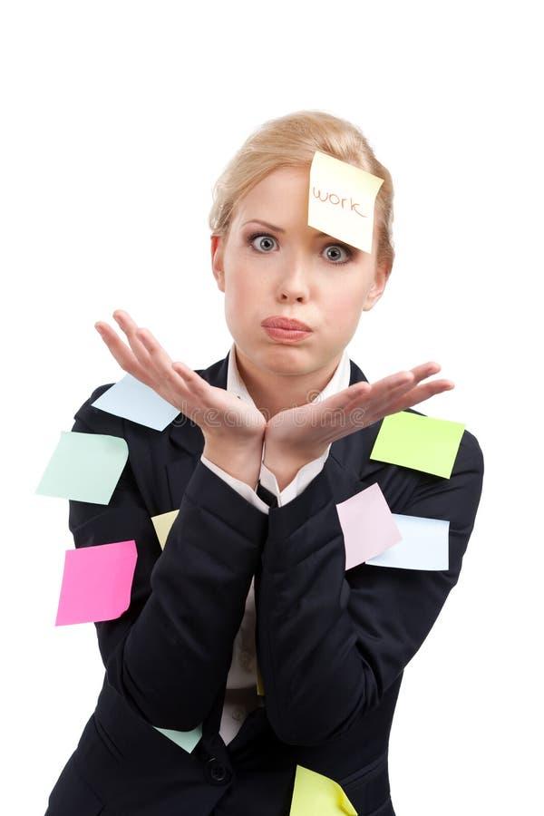 Femme d'affaires fatiguée avec les collants colorés images libres de droits