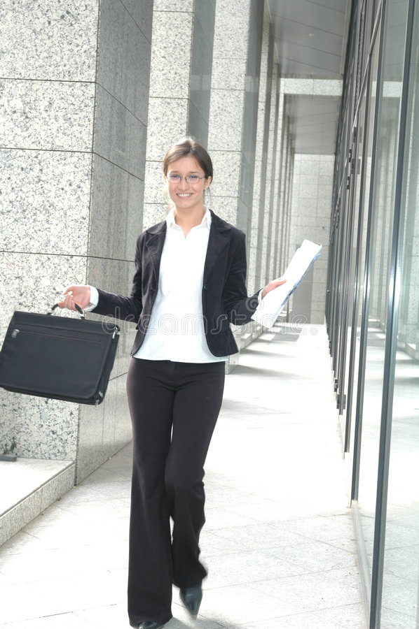 Femme d'affaires heureuse photos libres de droits