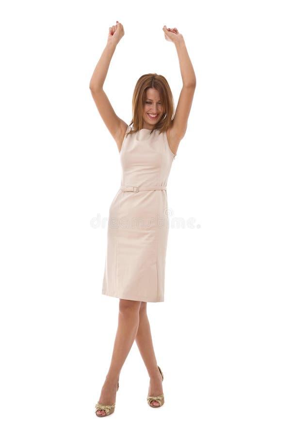 Femme d'affaires heureuse image stock