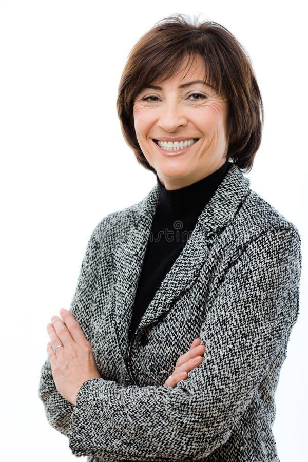 Download Femme d'affaires heureuse photo stock. Image du emploi - 8672596