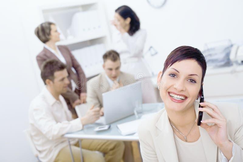 femme d'affaires heureuse photographie stock