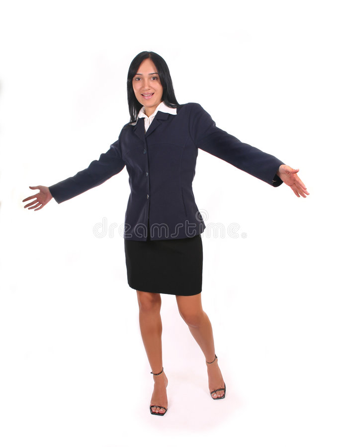 Femme d'affaires heureuse II photo stock