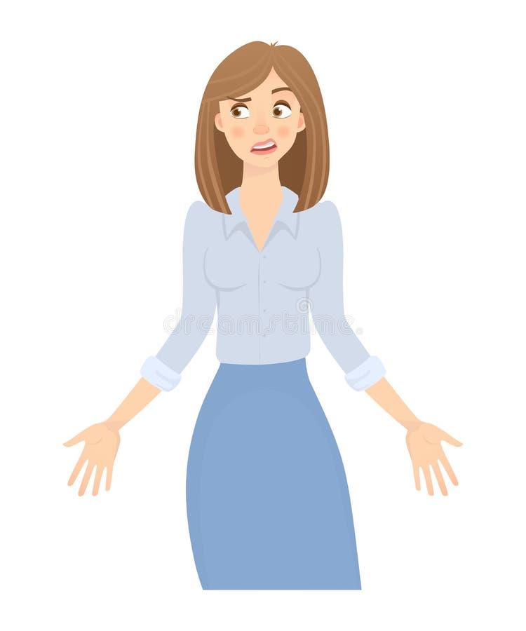 Femme d'affaires d'isolement illustration libre de droits