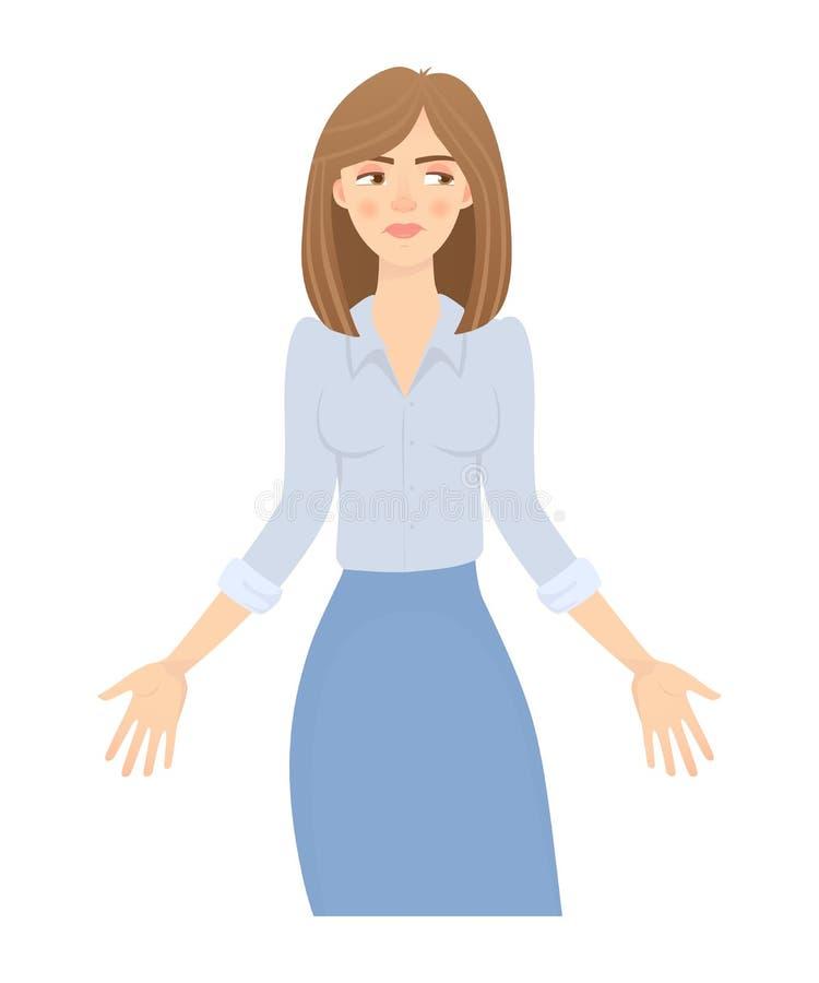 Femme d'affaires d'isolement illustration de vecteur