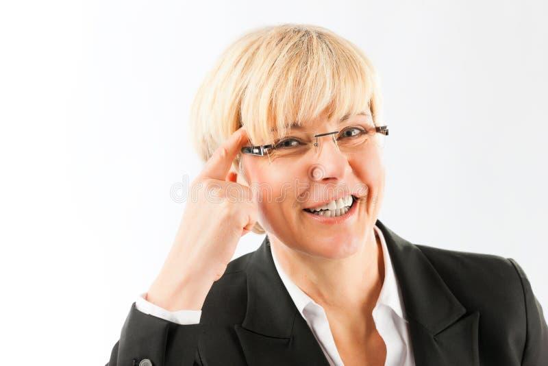 Femme d'affaires mûre de sourire images libres de droits