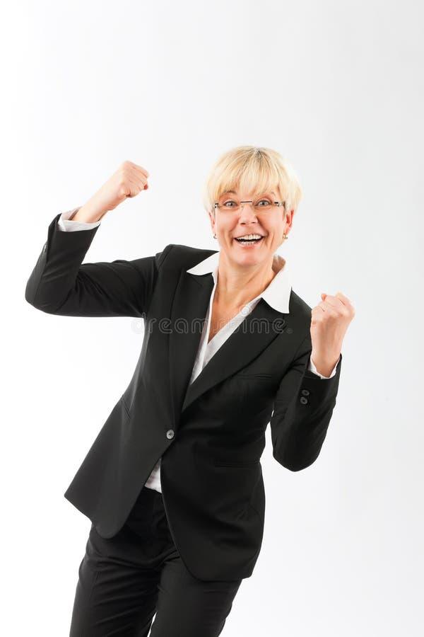 Femme d'affaires mûre réussie images libres de droits