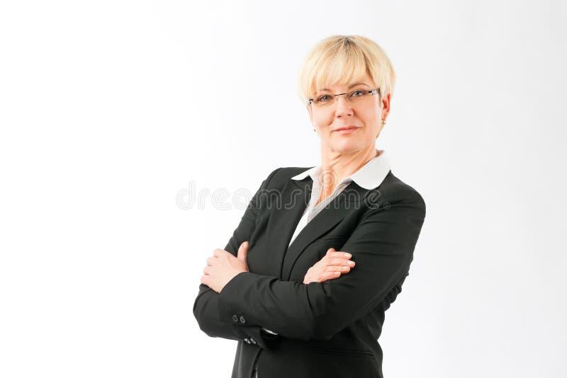 Femme d'affaires m?re confiante images libres de droits