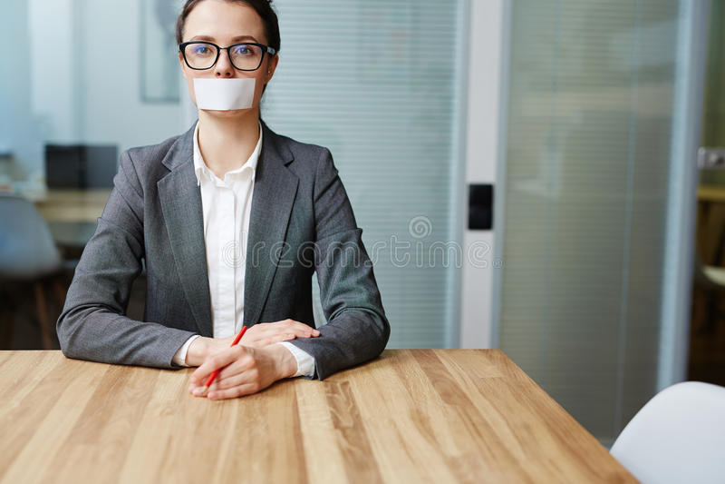 Femme d'affaires muette photos stock