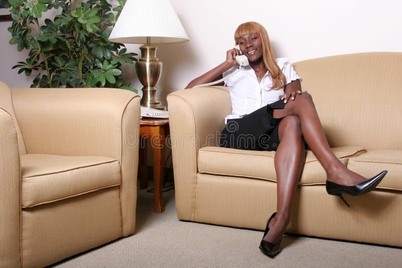 Femme d'affaires noire photographie stock libre de droits