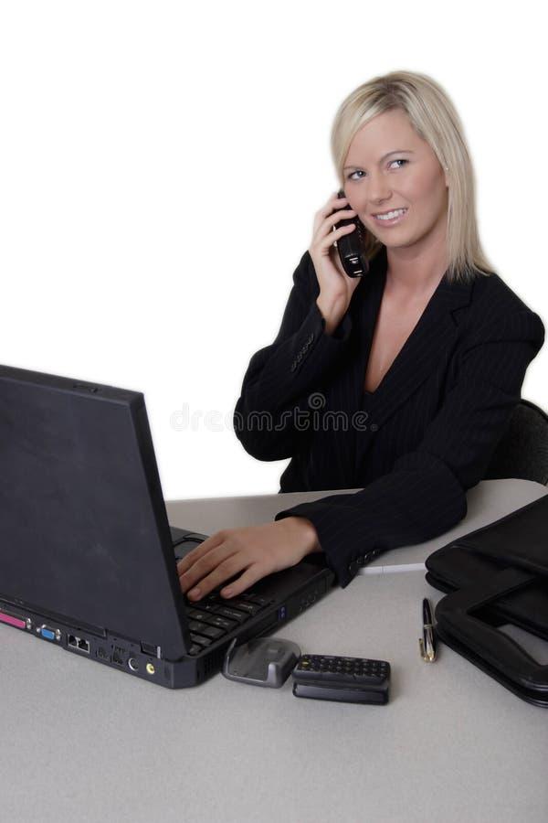 Femme d'affaires occupé au travail photo libre de droits